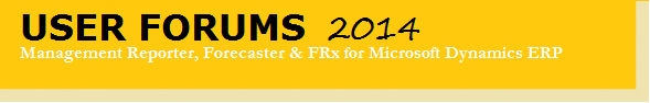 Forecaster, FRx, Management Reporter 2014