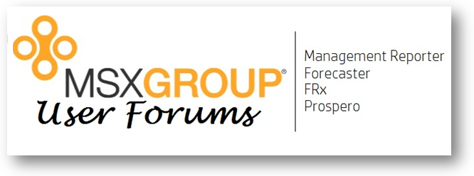 User Forums for Management Reporter, Forecaster and Prospero