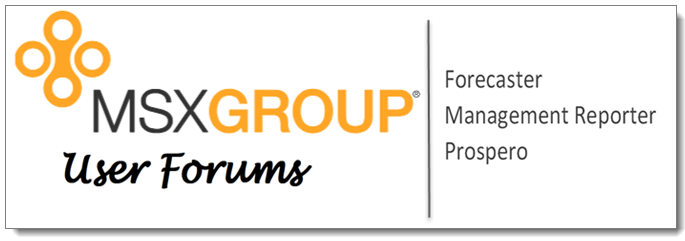 User Forums for Management Reporter, Forecaster, and Prospero